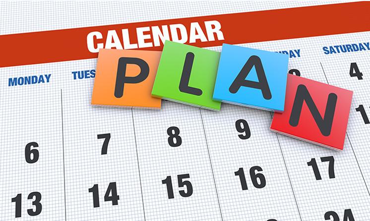 Colorful Calendar Plan